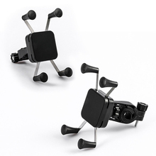 Bicycle Universal Mobile Phone Stand Holder Motorcycle GPS Cell Phone Bracket Mount  _WK universal motorcycle holder base for gps mobile phone black