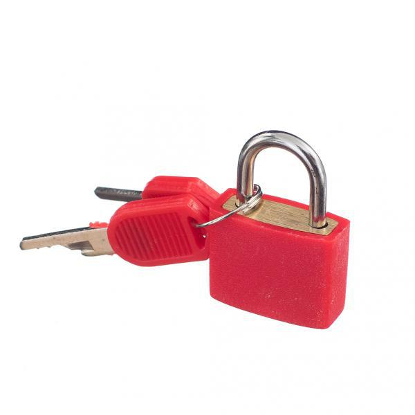 2 Small Padlock Set With Keys (2 Pairs) Luggage Suitcase Bag Mini Lock Travel Accessory Kit Solid Brass Red