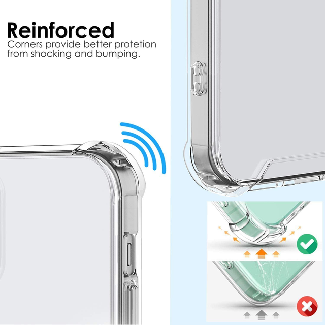 Shockproof Phone Case For iPhone 12 11 Pro Max Xs X Transparent Silicone Case For iPhone 7 8 Plus SE 2020 XR 12 Cases Back Cover 3