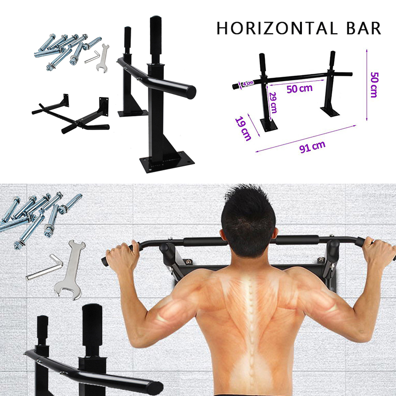 Indoor Sports Equipment Pull Up Bar Wall Home Chin Up Bar With Multiple Uses Home Gym Exercise Horizontal Bar Equipment HWC
