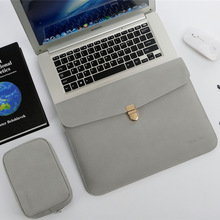 Waterproof PU Luxury Slim 13.3 14 in Notbook Bag Sleeve With Power Pack For Macb