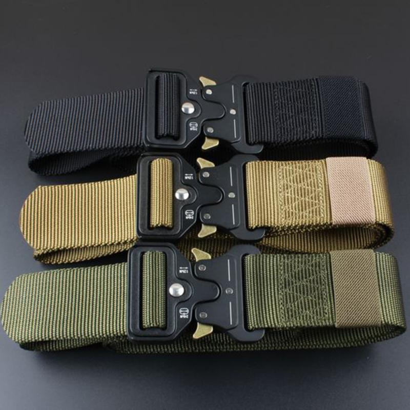 4.3cm Real Nylon New Cobra Men's Outdoor Tactical Belt For Military Fans Combat Belts Knock Off Emergency Survival Belt