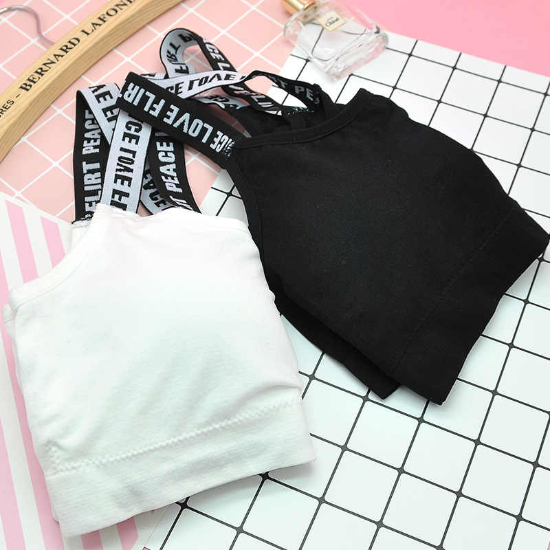 1PC Sport Bra Fitness Top Letters Yoga Bra For Free Size Black White Running Yoga Gym Fitness Crop Top Women Push Up Sports Bra