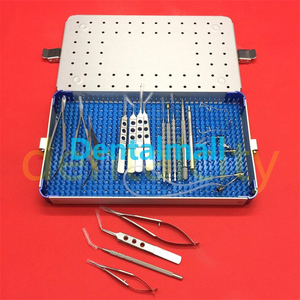 Image 2 - 21 قطعة/المجموعة العيون الساد العين مايكرو جراحة الأدوات الجراحية مع صندوق