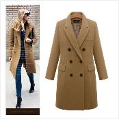 Autumn Winter Coat Women 2019 Fashion Vintage Slim Double Breasted Jackets Female Elegant Long Warm White Coat casaco feminino 39