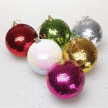 8 см Рождественская елка шары украшения блестящие шары орнамент с рождественской елкой украшения Рождественские шары большой размер год