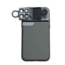 Lente de cámara Para iPhone 7 8 Plus XR X XS 11 Pro MAX 6 en 1, funda de teléfono, ojo de pez, gran angular, Lente Para ojo de pez