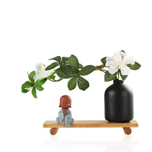 Small Monk Zen Chinese Style Postmodern Decoration Retro Bookshelf Crafts Ornaments Ornaments Household Items