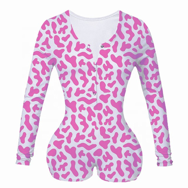 Yes Daddy Onesie Pajamas For Women Adults Sexy Onsie Bodysuit Button Bodycon Stretch Leotard Short Romper Overalls Lingerie