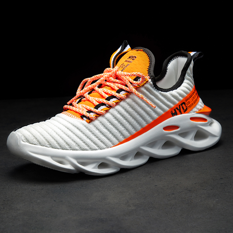 Hfd806db64a634c8ba7c401f9143a9619w Summer Trend Style Men's Casual Shoes 2019 New Fashion Breathable Mesh Light Personality Sneakers Flying Weaving Tenis Masculino