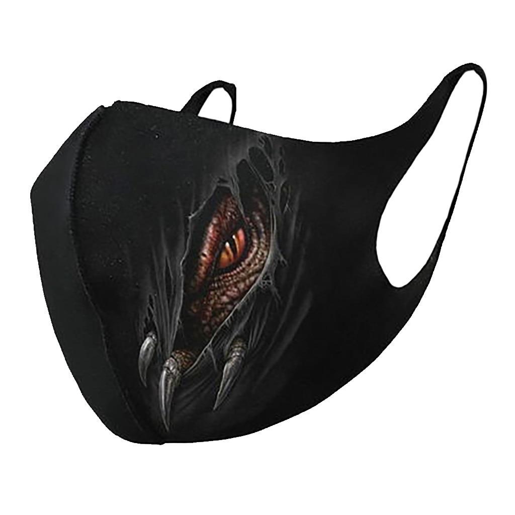 Unisex Windproof Universal Mouth Masks Breathable Animal Print Face Masks Windproof Dustproof Mouth-muffle Gezichtsmasker d35 2