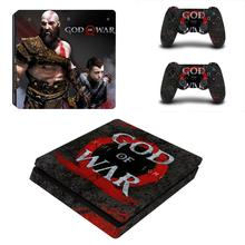 God of War 3 Full Cover Faceplates PS4 Slim Skin Sticker Decal Vinyl for Playstation 4 Console & Controller PS4 Slim Sticker