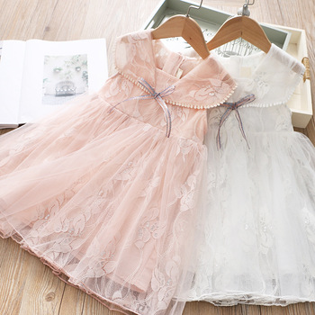 5p254Tutu Embroidery Princess Baby Girl Dress 2020 Spring Party Wedding Easter Day Kid Dress For Girl Wholesale Child Clothes