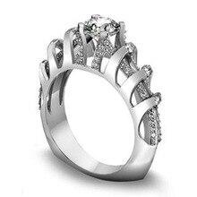 NPKDS женщины изысканные стерлингового серебра 925 творческий полые трехмерная геометрическая кольцо для свадьба ювелирные изделия