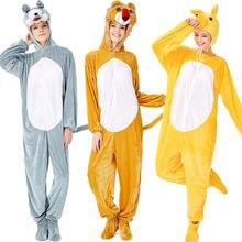 Новый костюм животного для взрослых на Хэллоуин косплея из трех