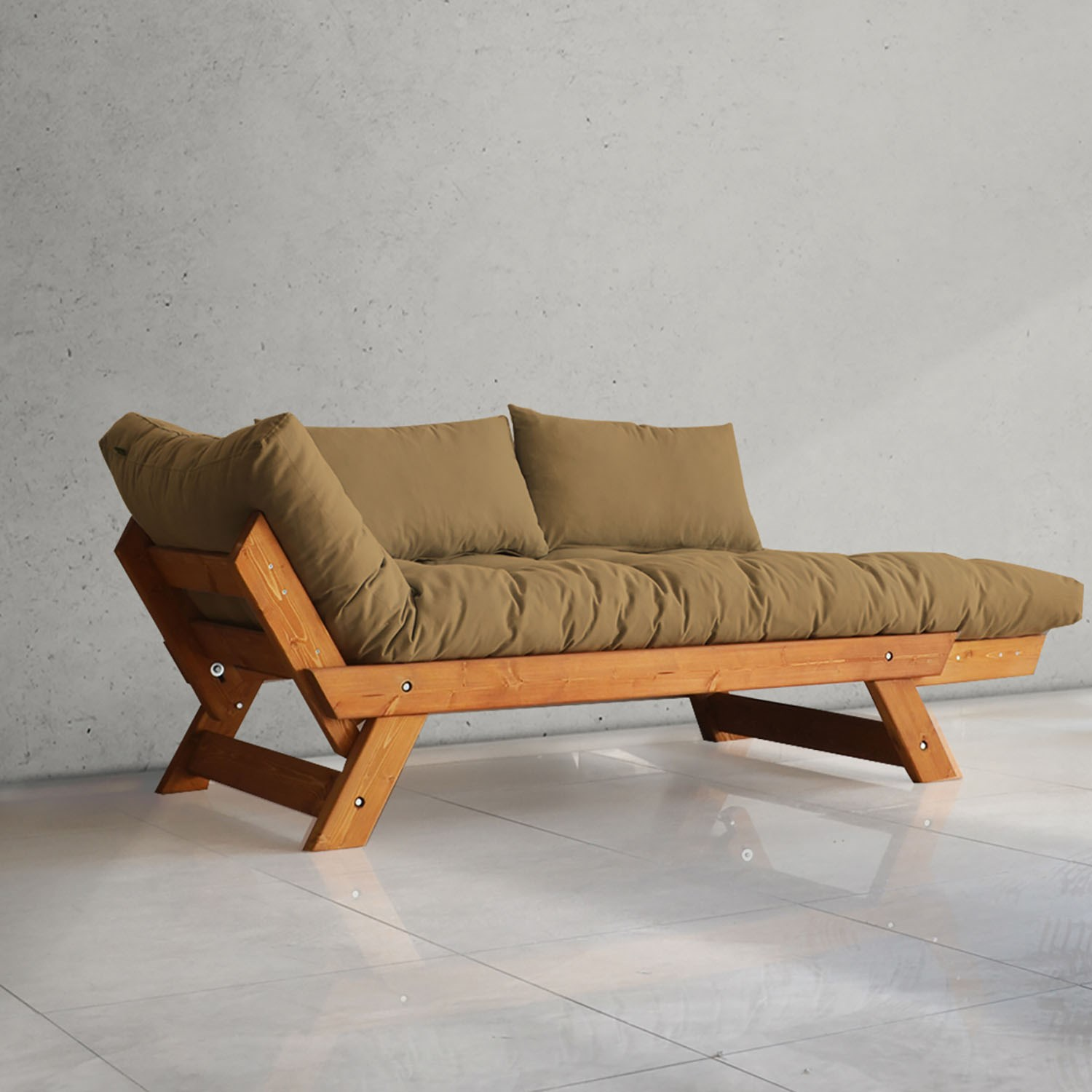 Mive Wooden Couch Armchair Bed For
