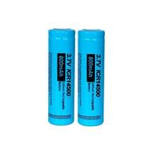 Bateria de lítio recarregável 3.7v 800mah do íon de li das baterias 14500 para a lanterna conduzida 2 pces/pkcell icr14500 aa