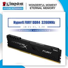 Kingston memoria ram 8GB 3200Mhz DDR4 CL18 HyperX FURY 16G 32G gioco Desktop Memoria RAM DIMM memoria interna a 288 pin per desktop