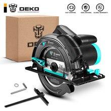 Deko dkcs185l1/dkcs185ld3 185mm, serra circular elétrica, máquina de corte multifuncional, com guia do laser e punho auxiliar