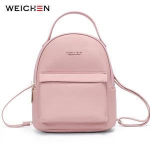 Image 1 - WEICHEN çok fonksiyonlu kadın sırt çantası deri moda küçük sırt çantası kadın bayanlar omuzdan askili çanta Satchel Mini Mochila çanta