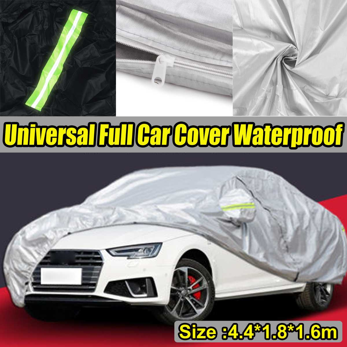 Exterior Car Cover Outdoor Protection Full Universal Car Covers Snow Cover Sunshade Waterproof Dustproof for Hatchback Sedan SUV