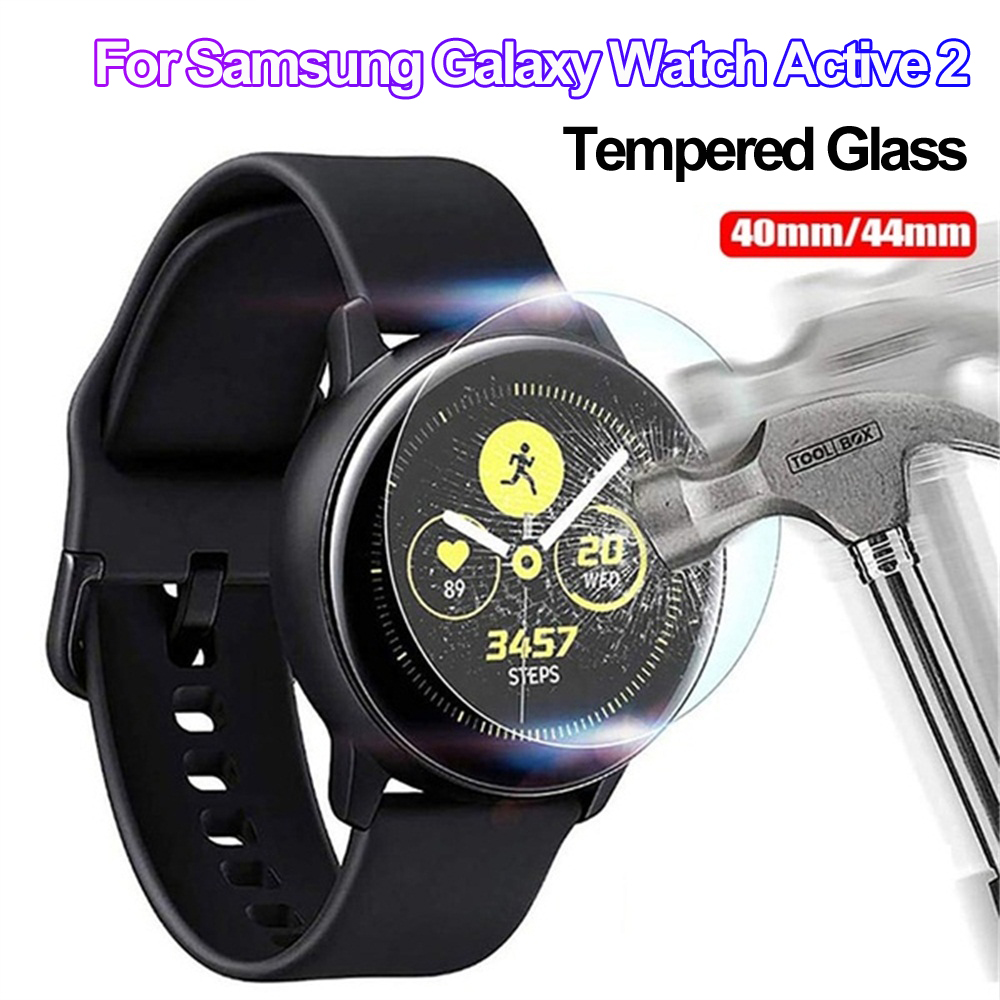 Smart Watch Cover Tempered Glass Screen Protectors Guard Film Protective Skin Skin For Samsung Galaxy Watch Active 2 40mm 44mm
