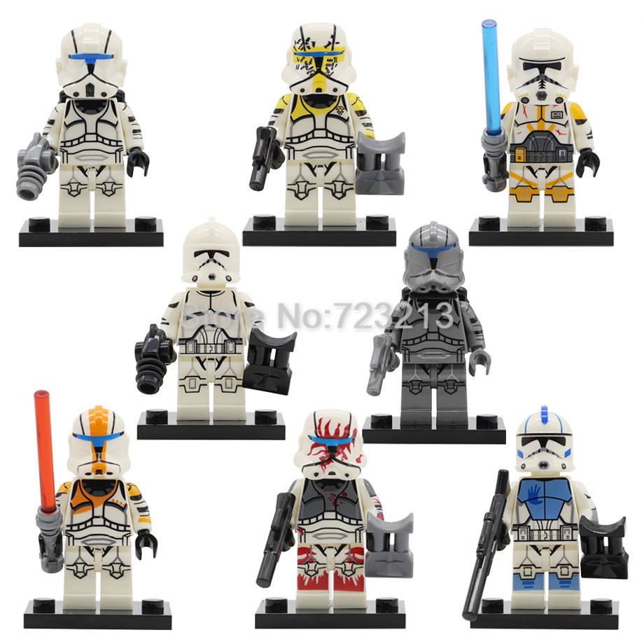 Single Sale Star Wars Clone Trooper Figure Set SY1071 Storm Building Blocks Sets Models Bricks Toys For Children Legoing