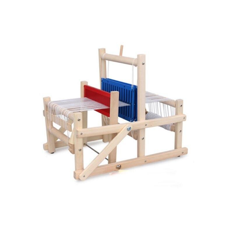 Kids Weaving Loom Kit Wooden Hand Knitting Machine For Beginners Children