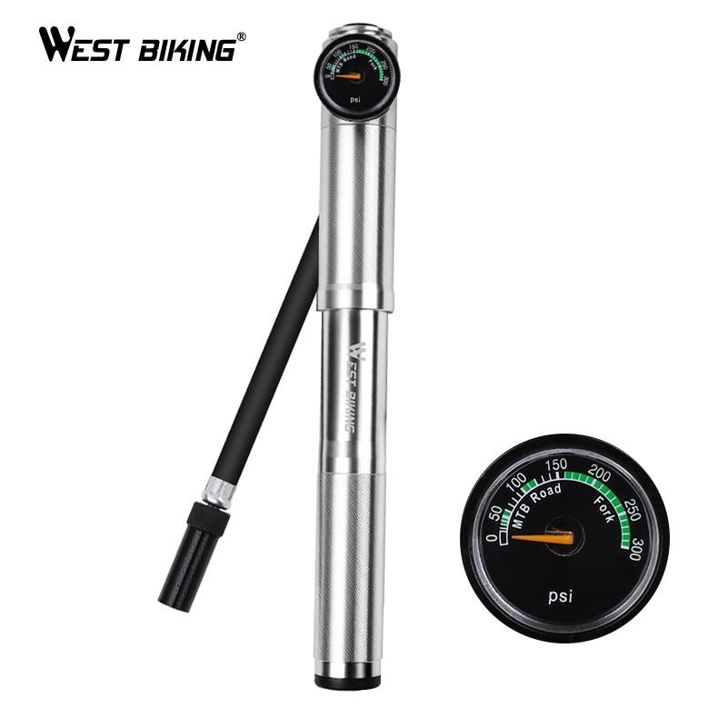 WEST BIKING 89G Portable Mini Bicycle Pump MTB Mountain Bike Pump 160 PSI High Pressure Cycling Hand Air Pump Ball Tire Inflator