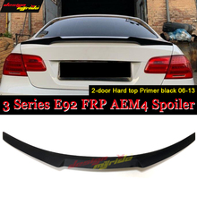 E92 Spoiler trunk wing tail M4 style FRP black for bmw e92 2-door coupe 318i 320i 328i 335d 330i 350i 340i trunk spoiler 2006-13 white yellow turning signal concept m4 iconic style led angel eye for bmw 3 series f30 320i 328i 335i 330i 340i 318i 330e 13 17