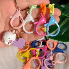 10pcs/lot 35mm Candy Color Alloy Lobster Clasps Hooks Circle KeyChain for DIY Mask Chain Lanyard Jewelry Making Accessories