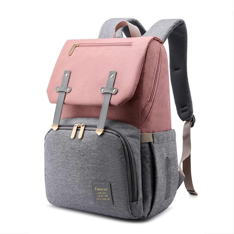Hfd81c6fb61c2409f8edae6e4bbaf70589 Diaper Bag Mummy Daddy Backpack Baby Stroller Bag Waterproof Oxford Handbag Nursing Nappy Kits Maternity Bag USB Warmer Holder