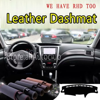 For Subaru Forester SH Impresa WRX B3 2008- 2012 Leather Dashmat Dashboard Cover Dash Mat Carpet custom Car styling Accessories image