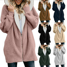 Women Teddy Bear Winter Warm Fluffy Coat Hooded Jacket Parka Cardigans Tops