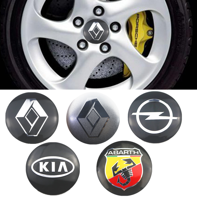 4Pcs <font><b>Car</b></font> 56mm sticker <font><b>Wheel</b></font> <font><b>Center</b></font> <font><b>Hub</b></font> <font><b>Caps</b></font> Decals For Volvo Fiat Seat <font><b>Skoda</b></font> Lexus Citroen Subaru Peugeot Jeep Mazda accessories image