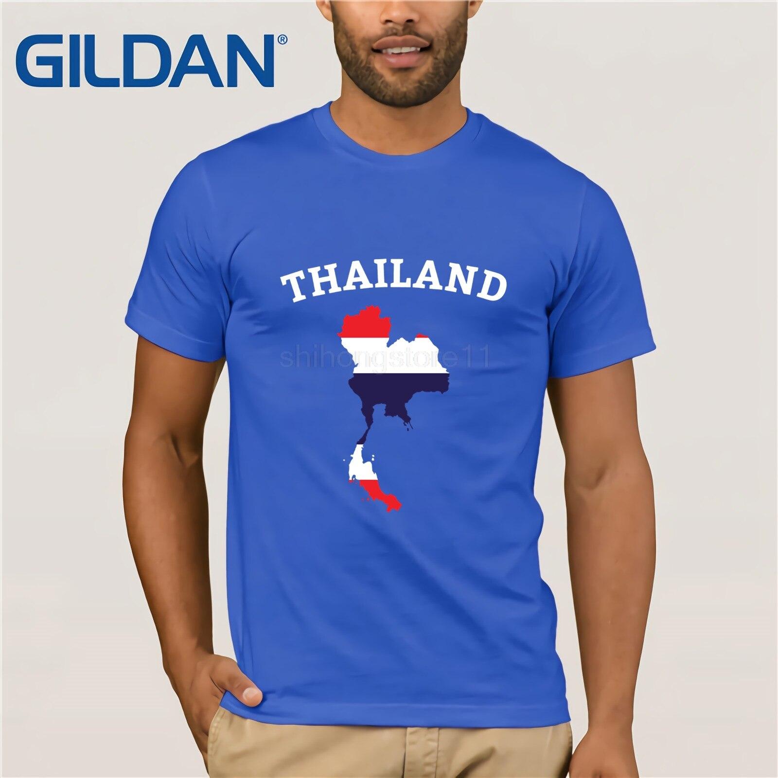 Thailand Shirt Thai Flag Map Phuket Men Men's Kids T-Shirt   T-shirt Clothes Popular T-Shirt Crewneck 100% Cotton Tees