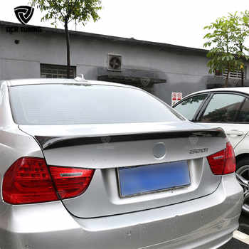 For BMW E90 spoiler E90 & E90 M3 carbon fiber rear trunk spoiler 318i 320i 325i 330i 2005-2011 E90 sedan rear wing CF Spoiler