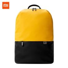 Простой повседневный рюкзак Xiaomi, вместительный рюкзак для путешествий, водонепроницаемый, 15,6 дюймов, для ноутбука, на ощупь, ткань
