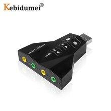 Harici çift 7.1 kanal USB 3D ses kartı ses adaptörü Laptop için Macbook için PC çift sanal 7.1 USB 2.0 4 bağlantı noktası ses kartı