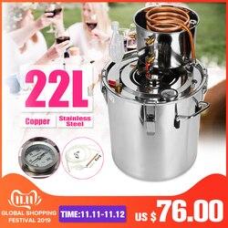 Kit de elaboración de aceite de vino esencial de agua casera de cobre inoxidable destilador de 20L