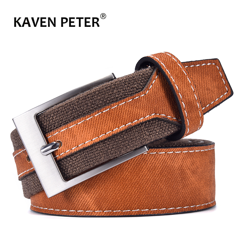 Fashion Denim Belt For Jeans Men Casual Canvas Designer Belts High Quality 3.5 CM Width Patchwork Strap Drop Shipping