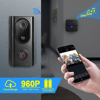KERUI WIFI видео дверной звонок беспроводной домофон HD 960P WIFI камера дверной звонок ночное видение приложение просмотр WIFI домофон дверной Звонок