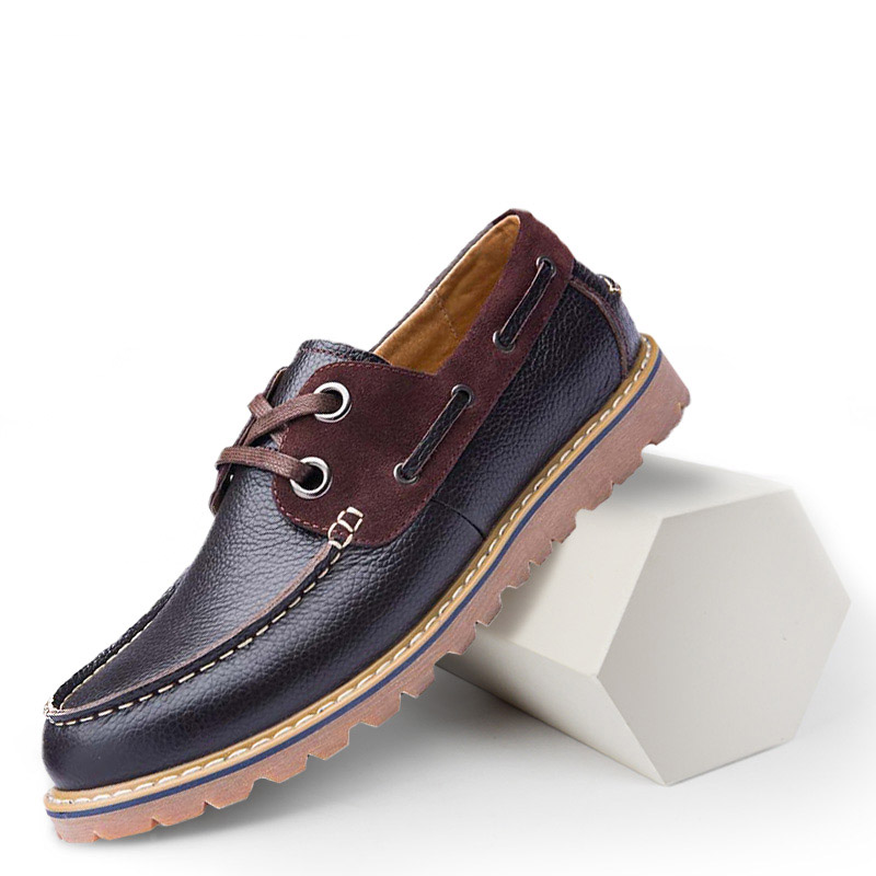 2020 New Boat Shoes Flats Shoes Men Comfortable Men Casual Shoes Cow Genuine Leather Boat Shoes Loafers Breathable High Quality