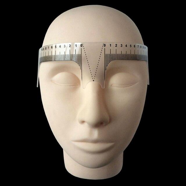 Reusable Semi Permanent Eyebrow Ruler Eye Brow Measure Tool Eyebrow Guide Ruler Microblading Calliper Stencil Makeup 20cm 3