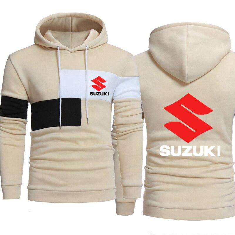 Hoodies Men Suzuki Car Logo Print Sweatshirt Spring Autumn Fashion Men Hoodies Hip Hop Harajuku Casual Hoody Fleece Tracksuit