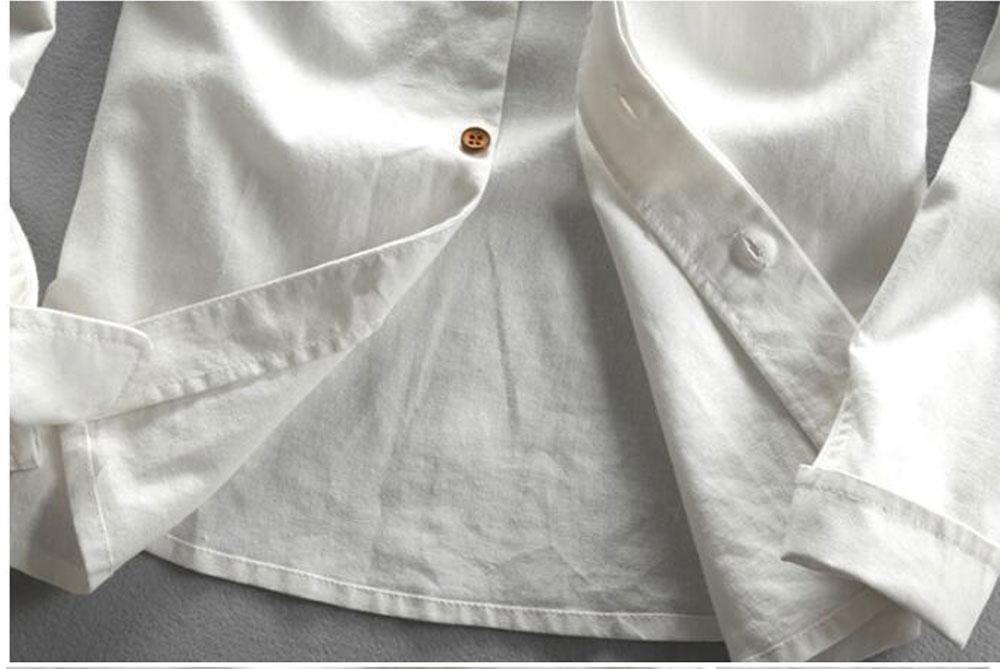 Hfd829696484a4522a68d63264312b072B New sexy Men's Cotton Linen Shirts Long Sleeve Men Casual Slim Mandarin Collar Shirts Summer Beach Shirt plus size 6xl