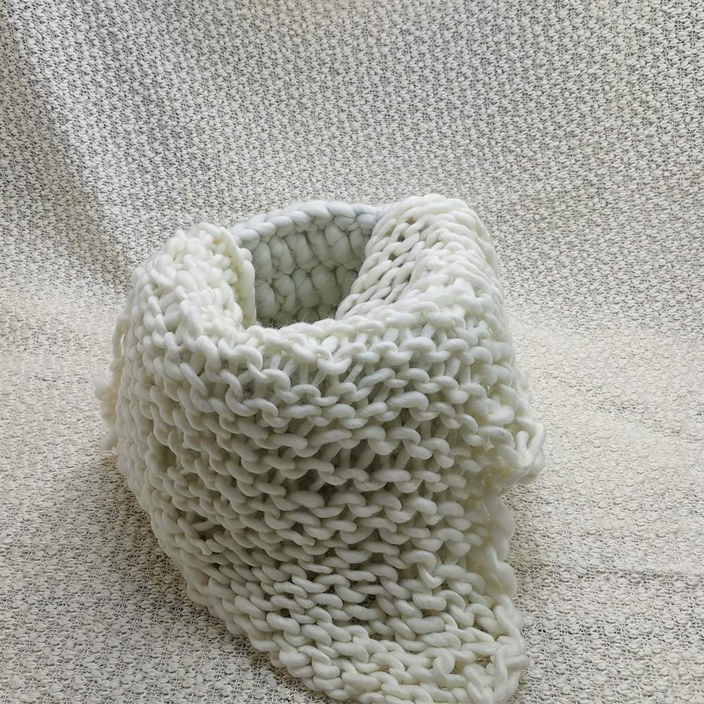 Clearance 150*100cm Thick Bobble Fabric Backdrop Blanket+Knitted Basket+100% Wool Handmade Blanket  For Newborn Photography Prop