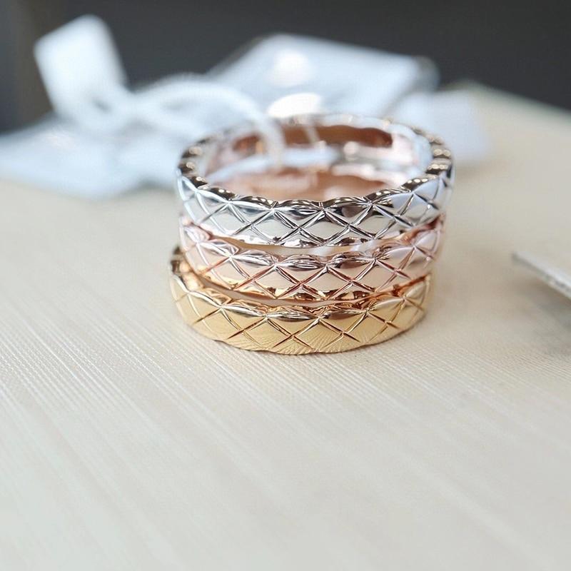 Горячая Распродажа резка зерна из розового золота и золотистого и серебристого цветов; Цвет Нержавеющаясталь кольца