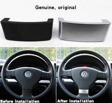 عجلة توجيه سيارة تقليم الترتر إدراج غطاء الكسوة كروم شعار ملصق صالح لل VW Golf MK5 زائد 5 GT باسات B6 3C Eos جيتا