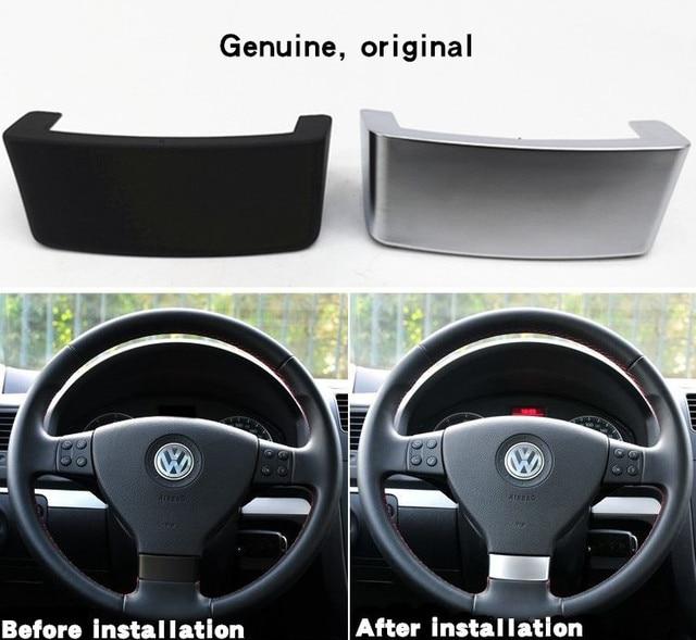Auto Lenkrad Trim Pailletten Insert Trim Abdeckung Chrom Emblem Aufkleber Fit für VW Golf MK5 Plus 5 GT Passat b6 3C Eos Jetta